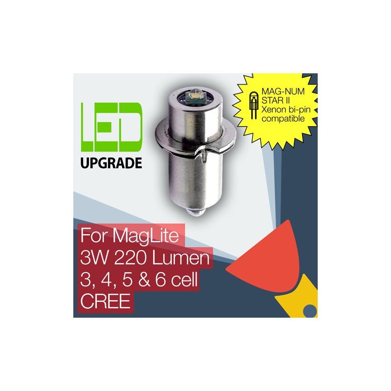maglite led upgrade conversion bulb mag num star ii bi pin. Black Bedroom Furniture Sets. Home Design Ideas