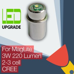 MagLite LED Upgrade/conversion bulb for MagLite Torch/flashlight 2D/2C 3D/3C Cell CREE XP-G2 CNC