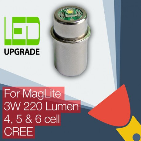 MagLite LED Upgrade/conversion bulb for MagLite Torch/flashlight 4D/4C, 5D, 6D Cell CREE XP-G2 CNC