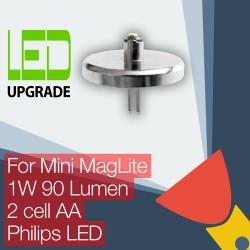 Mini MagLite LED Upgrade/conversion bulb for Mini MagLite Torch/flashlight 2AA Cell Philips LED