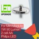 Mini MagLite LED mise à niveau ampoule Torche 2AA cellulaire Philips LED