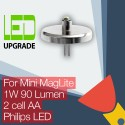 Mini MagLite LED Upgrade/conversion bulb for Mini MagLite Torch/flashlight 2AA Cell Philips LED