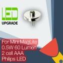 Mini MagLite LED Aggiornamento/Conversione lampadina Torcia 2AAA Cell Philips