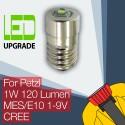 Petzl LED mise à niveau ampoule lampe frontale Zoom Duo MES/E10 1W 120LM CREE