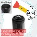 Stealthy Glass Breaking Cap for MagLite C Cell Torch flashlight