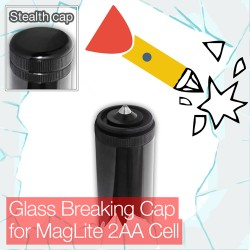 Stealthy Glass Breaking Cap for MagLite D Cell Torch/flashlight