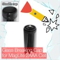 Stealthy Glass Breaking Cap for Mini MagLite 2AAA Cell Torch flashlight