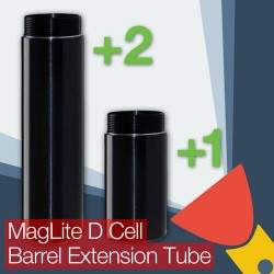 MagLite D Cell Barrel/Body Extension Tube (One Cell or Two Cell Battery Options)