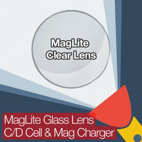 MagLite Replacement Clear Glass Lens for C/D Cell and Rechargeable Mag Charger Flashlights