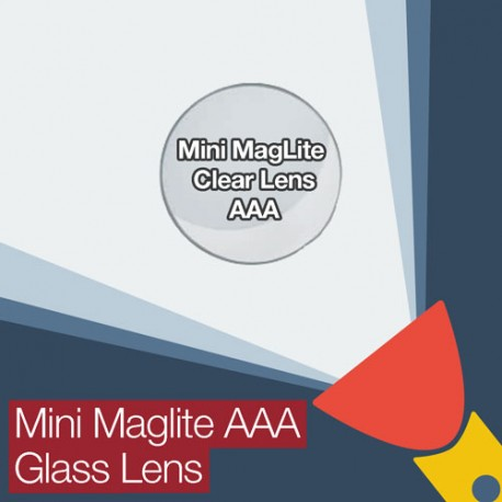 Mini MagLite AA Replacement Clear Glass Lens