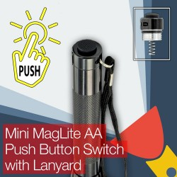 Mini MagLite AA Torch/flashlight Push Button (clicky) End/Tail Cap Switch