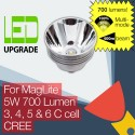 MagLite LED Conversion/upgrade bulb 700LM High Power for MagLite Torch/flashlight 3C 4C 5C 6C Cell CREE